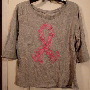 🌞3/$15 XL Breast Cancer Top